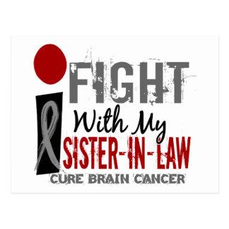Lucho con mi cáncer de cerebro de la cuñada tarjeta postal