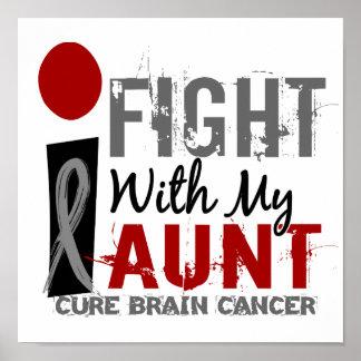 Lucho con mi cáncer de la tía cerebro póster