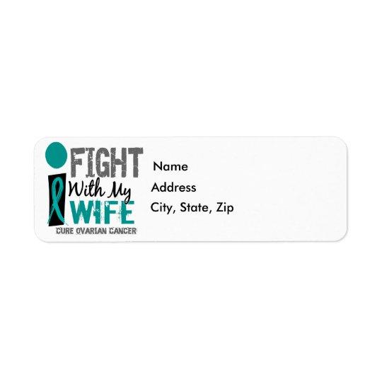 Lucho con mi cáncer ovárico de la esposa etiqueta de remitente