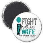 Lucho con mi cáncer ovárico de la esposa imán de frigorífico