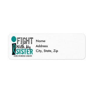 Lucho con mi cáncer ovárico de la hermana etiqueta de remite