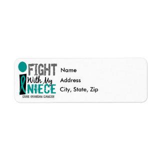 Lucho con mi cáncer ovárico de la sobrina etiqueta de remitente