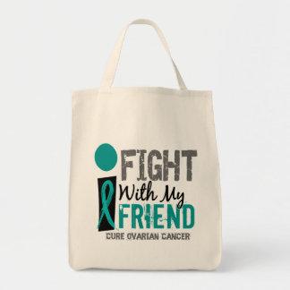 Lucho con mi cáncer ovárico del amigo bolsa tela para la compra