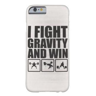 Lucho gravedad y gano - la motivación de elevación funda de iPhone 6 barely there