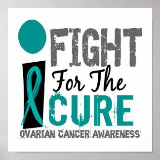 Lucho para el cáncer ovárico de la curación posters