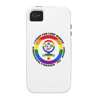 Lucho para las derechas de LGBT Vibe iPhone 4 Funda