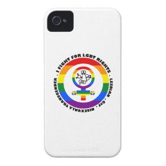 Lucho para las derechas de LGBT iPhone 4 Case-Mate Protectores