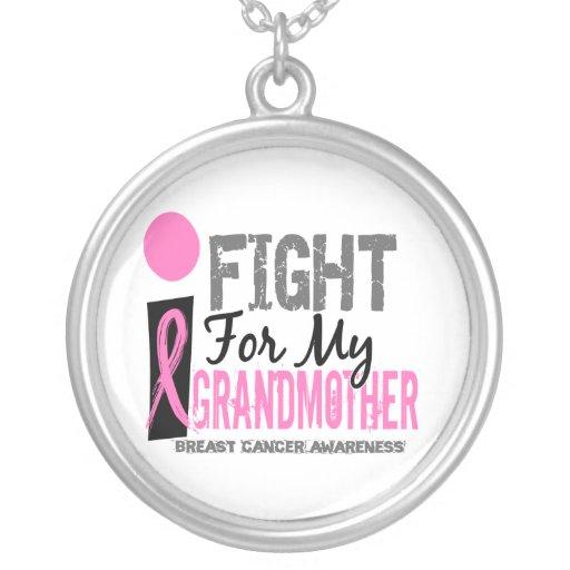 Lucho para mi cáncer de pecho de la abuela colgante redondo