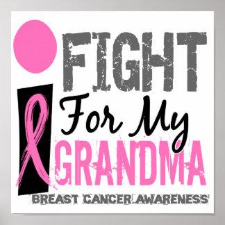 Lucho para mi cáncer de pecho de la abuela póster