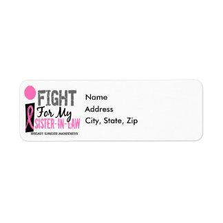 Lucho para mi cáncer de pecho de la cuñada etiquetas de remite