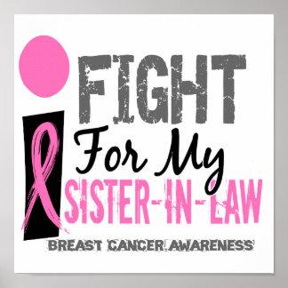 Lucho para mi cáncer de pecho de la cuñada póster