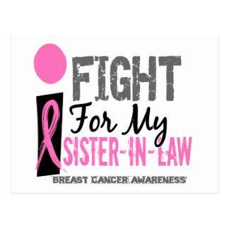 Lucho para mi cáncer de pecho de la cuñada tarjetas postales