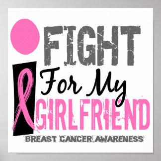 Lucho para mi cáncer de pecho de la novia póster