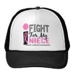 Lucho para mi cáncer de pecho de la sobrina gorros bordados