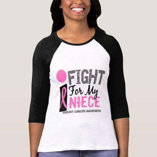 Lucho para mi cáncer de pecho de la sobrina camiseta