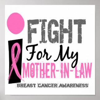 Lucho para mi cáncer de pecho de la suegra póster