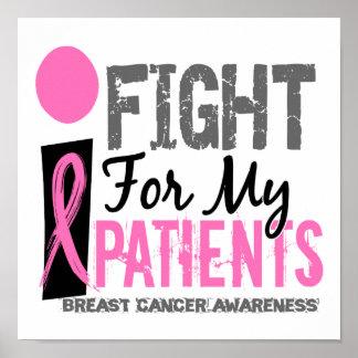 Lucho para mi cáncer de pecho de los pacientes póster