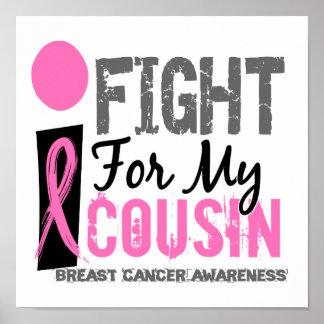 Lucho para mi cáncer de pecho del primo póster