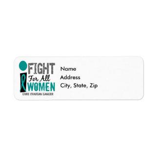 Lucho para todo el cáncer ovárico de las mujeres etiqueta de remite