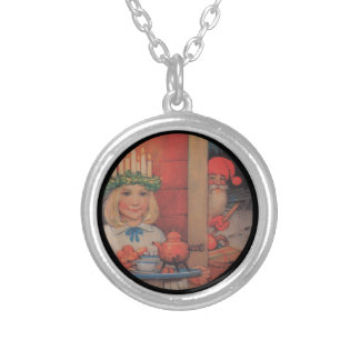 Lucia and the Nisse Silver Plated Necklace