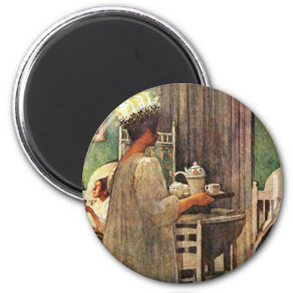 Lucia Day 2 Inch Round Magnet