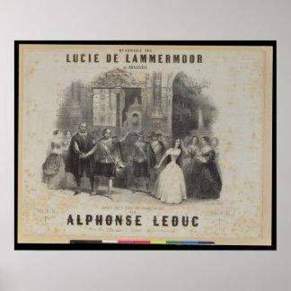 Lucia de Lammermoor' by Gaetano Donizetti Poster