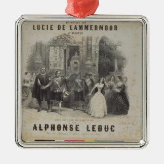 Lucía de Lammermoor' de Gaetano Donizetti Adorno Navideño Cuadrado De Metal
