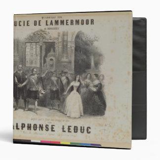 """Lucía de Lammermoor' de Gaetano Donizetti Carpeta 1 1/2"""""""