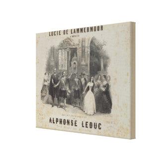 Lucía de Lammermoor' de Gaetano Donizetti Impresión En Lienzo
