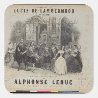 Lucía de Lammermoor' de Gaetano Donizetti Pegatina Cuadrada