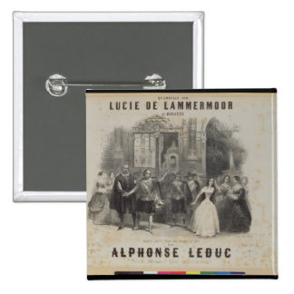 Lucía de Lammermoor' de Gaetano Donizetti Pin Cuadrado