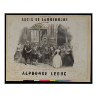 Lucía de Lammermoor' de Gaetano Donizetti Póster