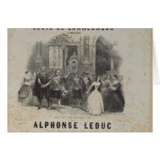 Lucía de Lammermoor' de Gaetano Donizetti Tarjeta De Felicitación