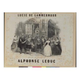 Lucía de Lammermoor' de Gaetano Donizetti Tarjetas Postales