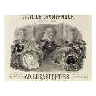 Lucía de Lammermoor' la ópera Tarjetas Postales