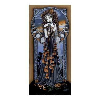 """Lucia"" Gothic Flower Moon Fairy Art Poster"