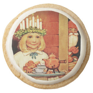 Lucia Karin and the Nisse Round Premium Shortbread Cookie