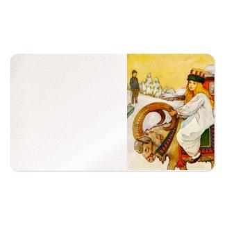 Lucía monta la cabra de julio tarjetas de negocios