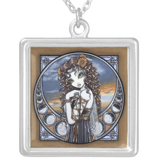 """""""Lucia"""" Moon Phase Fairy Necklace"""