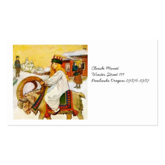 Lucia Rides the Jul Goat Double-Sided Standard Business Cards (Pack Of 100)