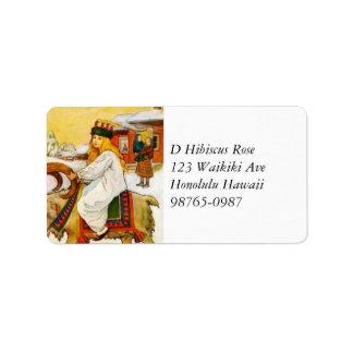 Lucia Rides the Jul Goat Address Label