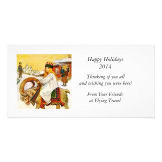 Lucia Rides the Jul Goat Photo Card