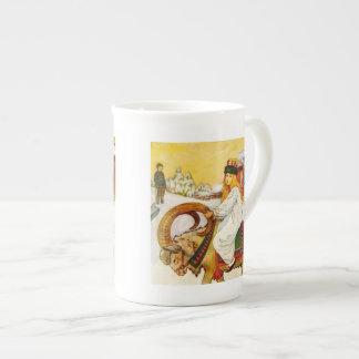 Lucia Rides the Jul Goat Bone China Mug