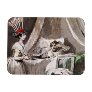 Lucia Serving hot cocoa and Cookies Rectangular Photo Magnet