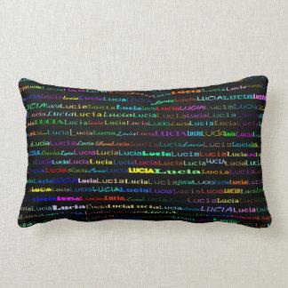 Lucia Text Design I Lumbar Pillow