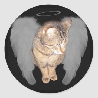 Lucian Angel Classic Round Sticker