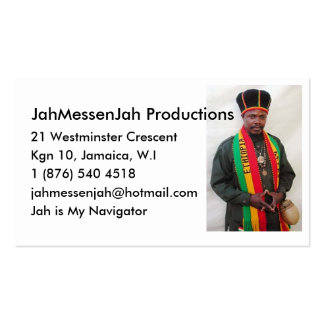 LUCIANO Jah MessenJah Profile Card Business Card
