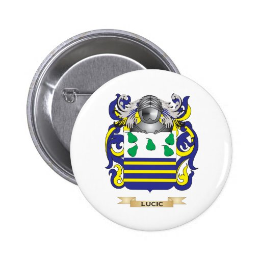 Lucic Coat of Arms (Family Crest) Buttons