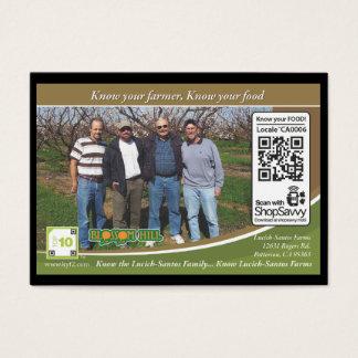 Lucich-Santos Farms Traceable Shelftalker Business Card
