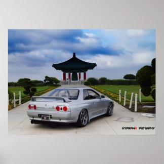 """Lucid"" Nissan GT-R R32 Skyline Vspec Poster"